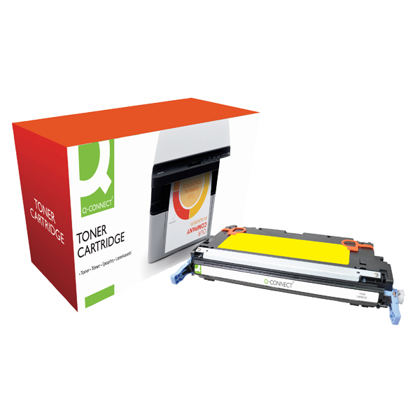 Q-Connect HP 502A Remanufactured Yellow Laserjet Toner Cartridge Q6472A