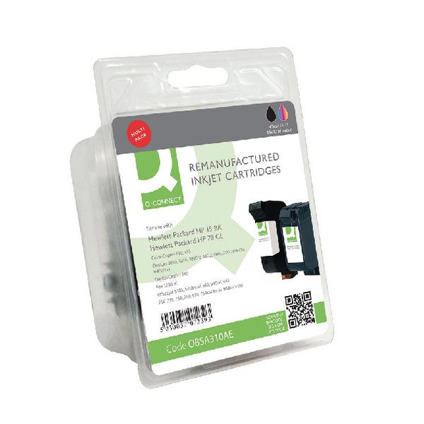 Q-Connect HP 15 78 SA310AE Ink Cartridge (Pack Black Tricolour (Pack of 2) SA310AE-COMP