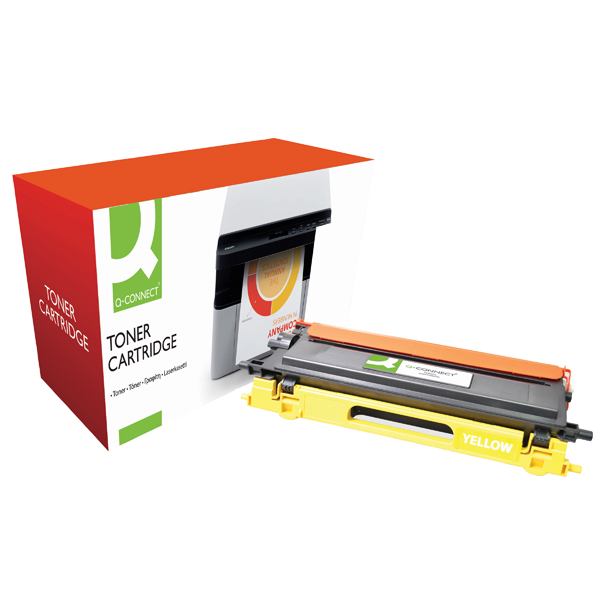 Q-Connect Brother Remanufactured Yellow Toner Cartridge High Yield TN135Y