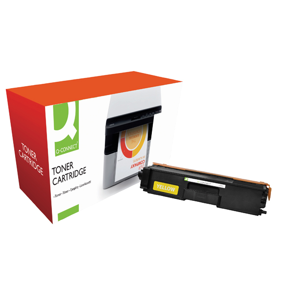 Q-Connect Compatible Solution Brother HY TN326Y Yellow Toner Cartridge TN326Y