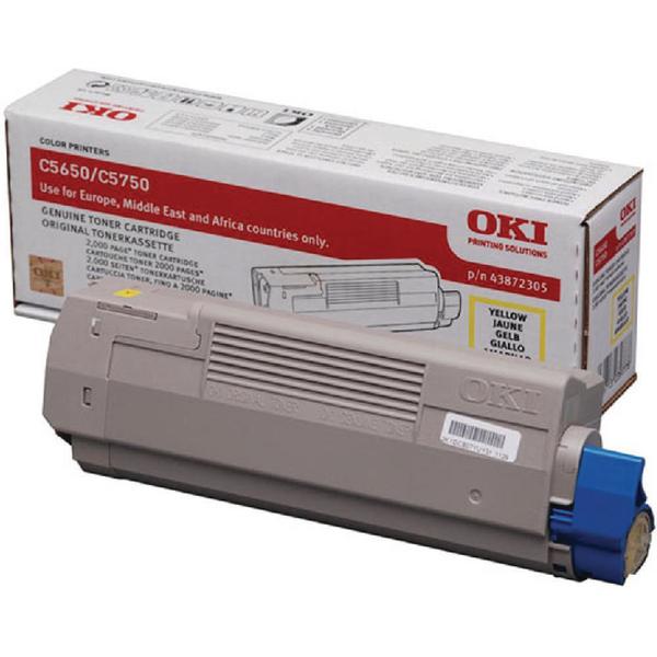 Oki Yellow Toner Cartridge 43872305