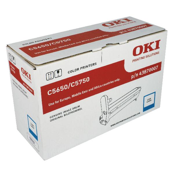 Oki C5650/C5750 Cyan Image Drum 43870007