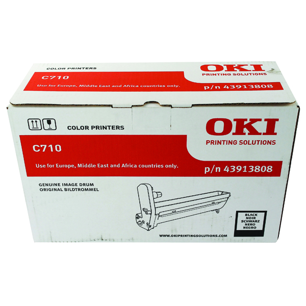Oki C710 Black Image Drum 43913808