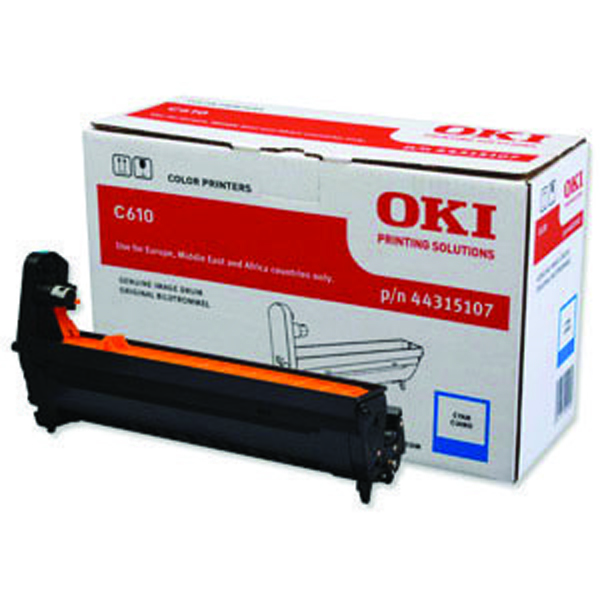 Oki C610 Cyan Image Drum 20K 44315107