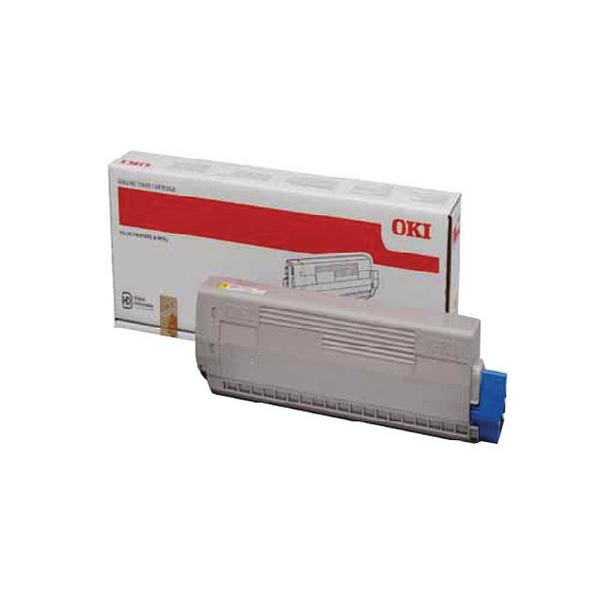 Oki Yellow Toner Cartridge (10,000 Page Capacity) 44844505
