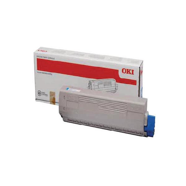 Oki Cyan Toner Cartridge (10,000 Page Capacity) 44844507