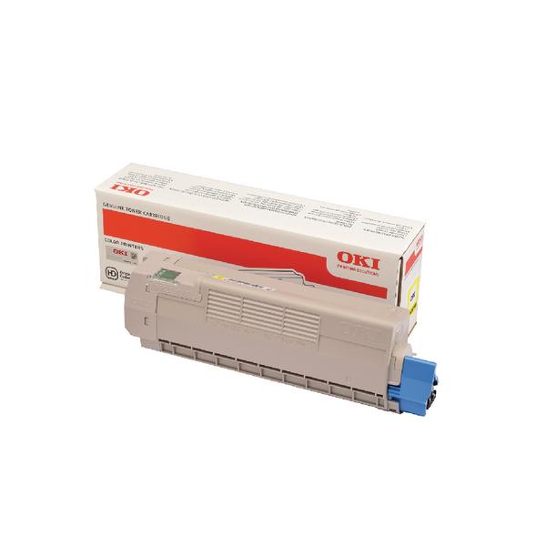 Oki C612 Yellow Laser Toner Cartridge (6000 page yield) 46507505