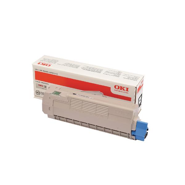 Oki C612 Black Laser Toner Cartridge (8,000 Page yield) 46507508