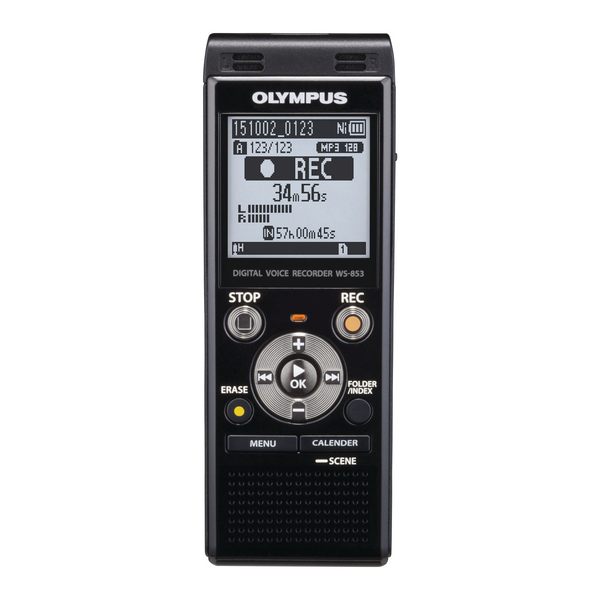 Image for Olympus WS-853 Digital Voice Recorder Black V415131BE000