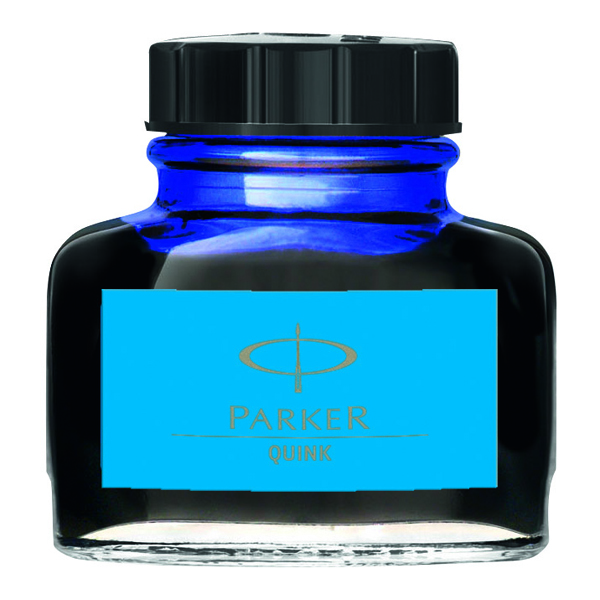 Image for Parker Quink Blue Permanent Ink Bottle 2oz S0037470