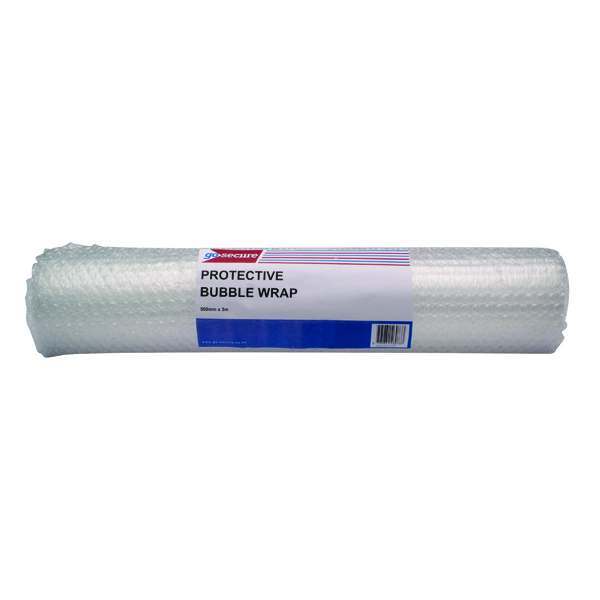 GoSecure Bubble Wrap Roll Medium 500mmx3m Clear (Pack of 10)