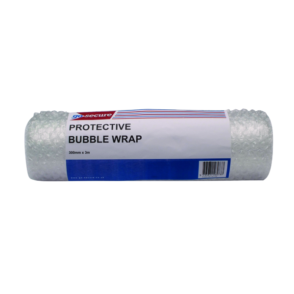 Go Secure Bubble Wrap Roll Small 300mmx3m Clear (Pack of 16)
