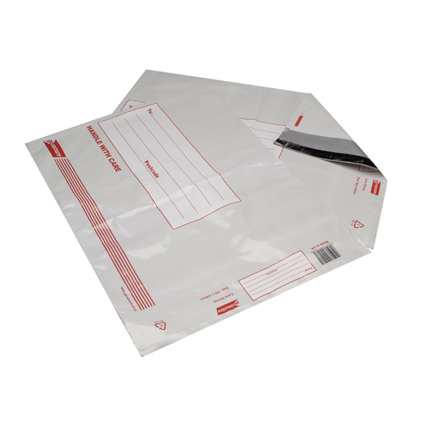 Go Secure Extra Strong Polythene Envelopes 345x430mm (Pack of 25)