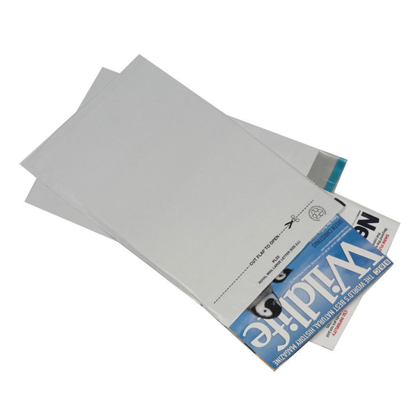 GoSecure Envelope Lightweight Polythene 595x430mm Opaque (Pack of 100)