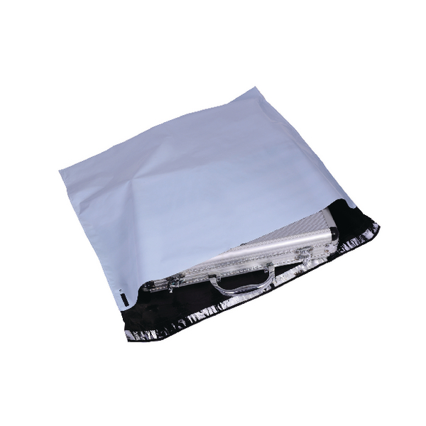 GoSecure Extra Strong 430x400mm Opaque Grey Polythene Envelope (Pack of 100)