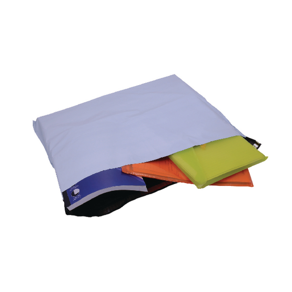 GoSecure Extra Strong Polythene Envelopes 595x430mm Opaque (Pack of 100)