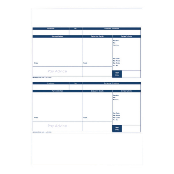 Image for Custom Forms Pegasus Capital/Opera Payslips (Pack of 500) CL95