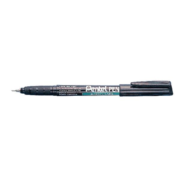 Pentel Super Fine Black Permanent Marker (Pack of 12) NMF50-A