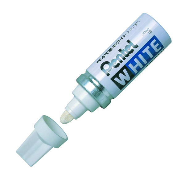 Pentel Paint Marker White Bullet Tip (Pack of 12) X100W