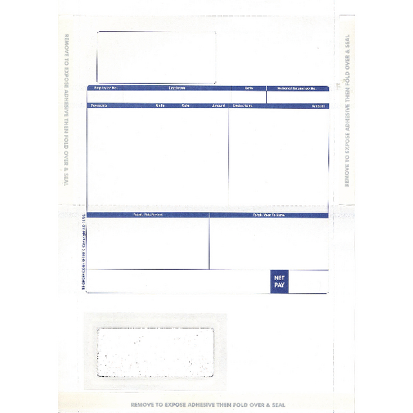 Image for Pegasus Compatible 1-Part Hand-Seal Laser Payslip Mailer MS29S (Pack of 500)