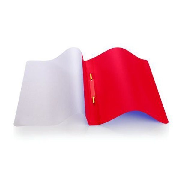 Image for Initiative Polypropylene Report File With Clear Cover A4 Red Pack 25