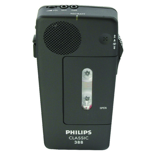 Image for Philips Black Pocket Memo Voice Activated Dictation Recorder LFH0388