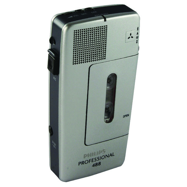 Image for Philips Silver Pocket Memo Voice Activated Mini Cassette Recorder LFH0488