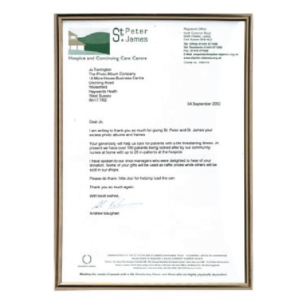 Image for Photo Album Company Metal A4 Black /Gold Certificate Frame PACFA4B