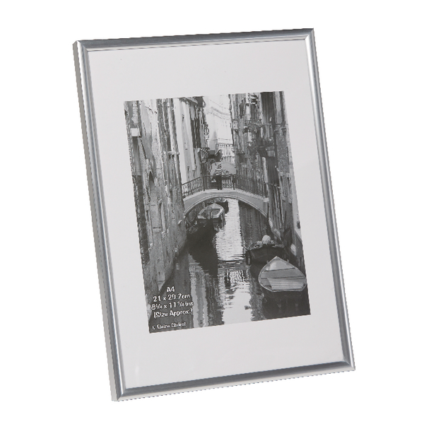Photo Album Company Silver A4 Back Loading Certificate Frame A4MARSIL-NG