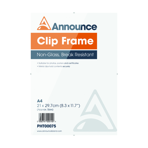 Image for Announce A4 Clip Frame