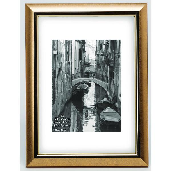 Photo Album Company Satin Gold Certificate Frame A4 PELA4GLD-NG