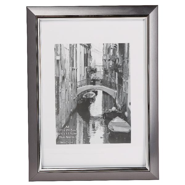 Photo Album Company Premier Certificate Frame A4 Smoke With Silver Inlay PELA4SMK-NG