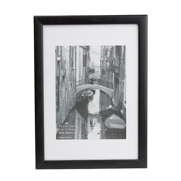 Image for Photo Album Co Black Wood Certificate Frame Glass KENTA4GL