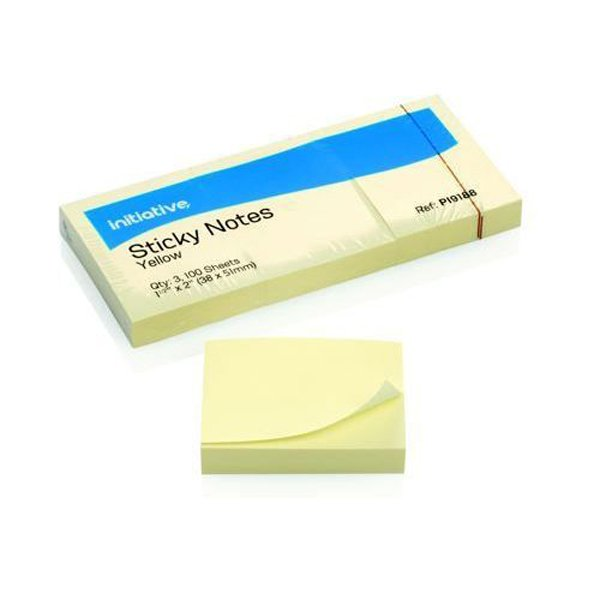 Image for Initiative Sticky Notes 38 x 51mm 1.5 x 2 inches Yellow