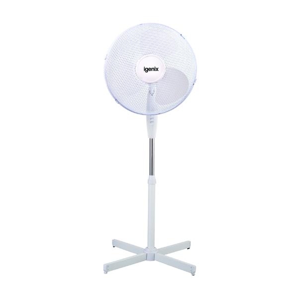 Igenix 16in Pedestal Fan White