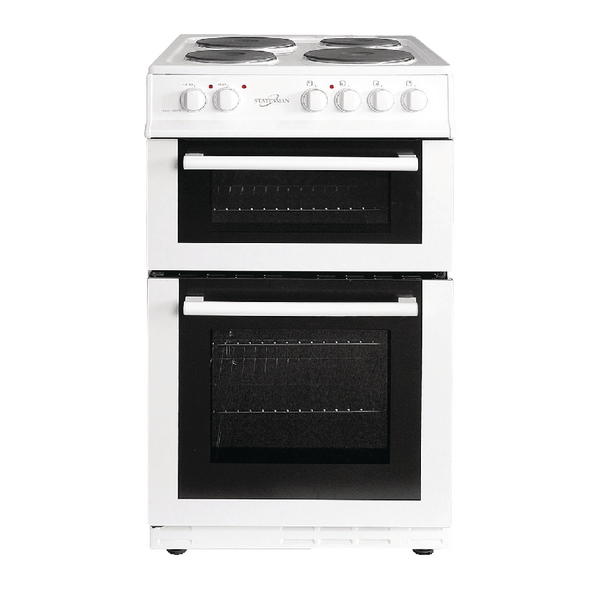 Statesman Twin Cavity Electric Cooker - White 50cm Fusion 50ETW
