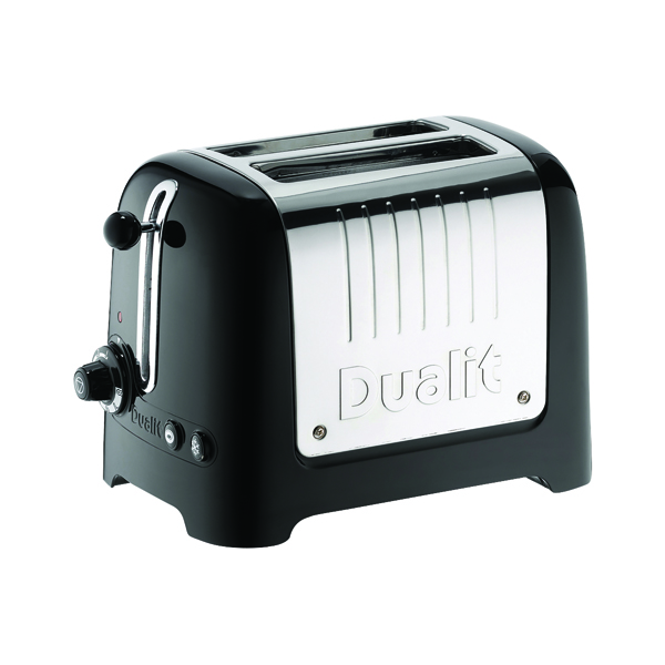 Dualit 2 Slice High Gloss Lite Toaster Black DA2625
