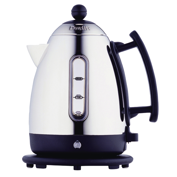 Dualit 1.5L Cordless Jug Kettle Stainless Steel with Black Trim DA0500