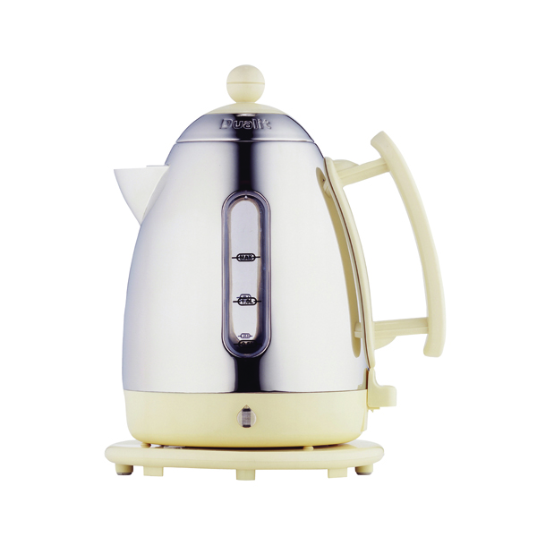 Dualit 1.5L Cordless Jug Kettle Stainless Steel With Cream Trim DA7210