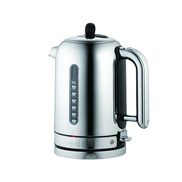 Dualit 1.7L 3KW Classic Cordless Jug Kettle Stainless Steel DA2815