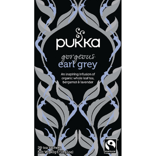 Pukka Gorgeous Earl Grey Fairtrade Tea (Pack of 20) P5052