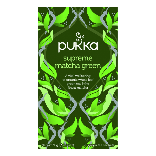 Pukka Supreme Green Matcha Fairtrade WWF Tea (Pack of 20) P5056SE