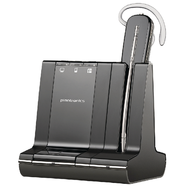 Plantronics Savi W740-M Wireless DECT Headset System Convertible Microsoft-Compatible 47676