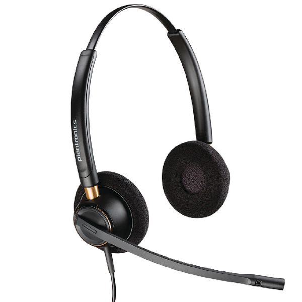 Plantronics EncorePro HW520 Customer Service Headset Binaural Noise-Cancelling 52636