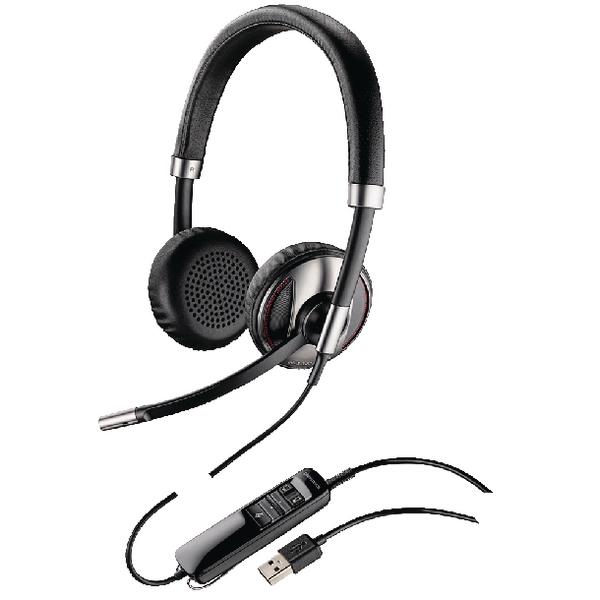 Plantronics Black Wire C720 USB Headset Binaural UC-Compatible 48189
