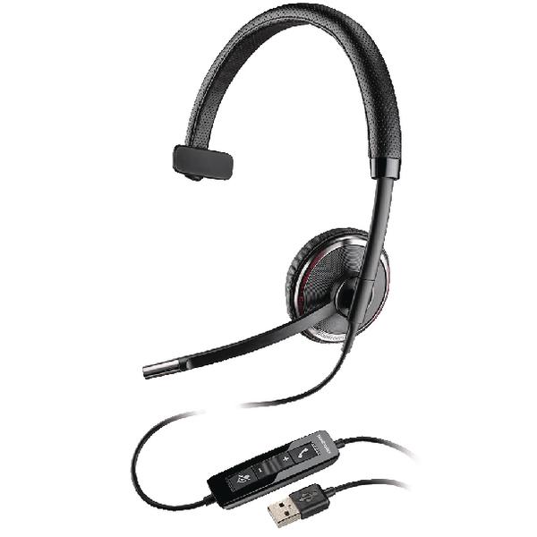 Plantronics Black Wire C510-M USB Headset Monaural Microsoft-Compatible 49094