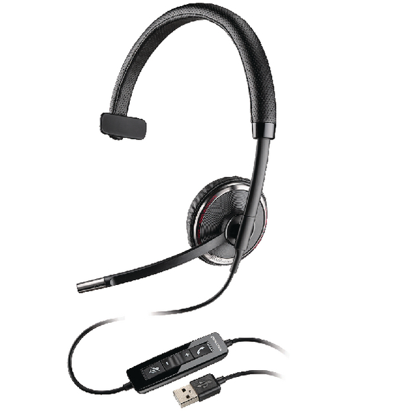 Plantronics Black Wire C510 USB Headset Monaural UC-Compatible 49093