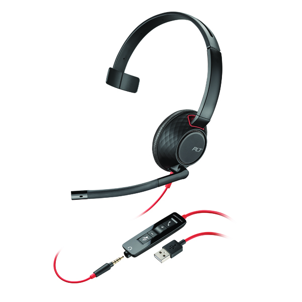 Plantronics Blackwire 5210 C5210 WW Headset 207577-01