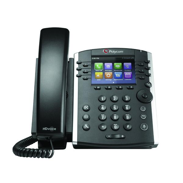 Polycom VVX 410 Black Wired Handset 2200-46162-025