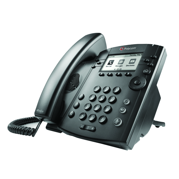 Polycom Microsoft Lync Black VVX 300 Wired Handset 2200-46135-018